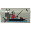 Vinyl Graphic Mailbox Gone Fishing