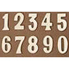 3-Inch Brass Mailbox Address Plate Numbers