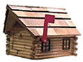 Log Cabin Wooden Mailbox
