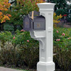 Liberty Mailbox Post - White