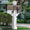 Rockport Twin Mailbox Post - White