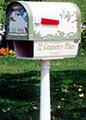 Hummingbird Mailbox Post & Paper Box Set