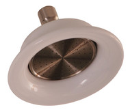 "Barclay Sunflower Satin Nickel Shower Head with 7"" Arm and Flange"