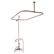 "Add A Shower Kit, Hand Shower, 48"" Curtain Rod,  Lever Handles, Brushed Nickel"