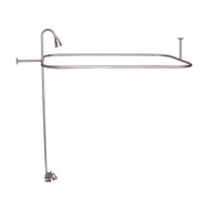 "Add A Shower Kit, 48"" Rectangular Rod, Standard Faucet, Brushed Nickel"