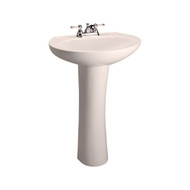 "Barclay Hampshire 575 Pedestal Sink, 4"" Centerset Faucet, Bisque Finish"