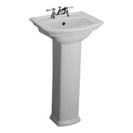 "Barclay Washington 460 Pedestal Sink, 4"" Centerset Faucet, White Finish"