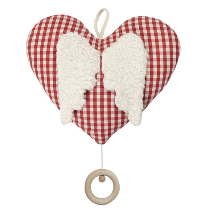 heart with wings music box