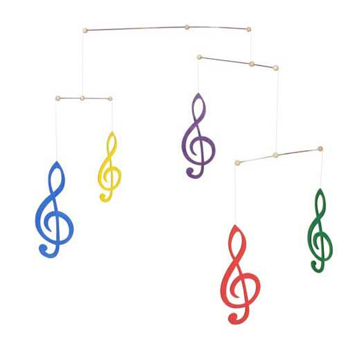g-clef musical notes mobile