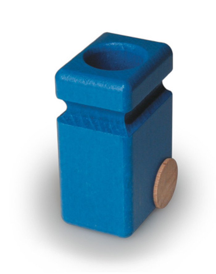 Fagus garbage recycling cans, single, blue