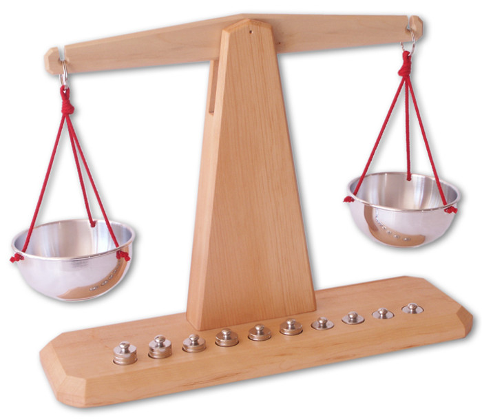 wooden children's scales, made in Germany