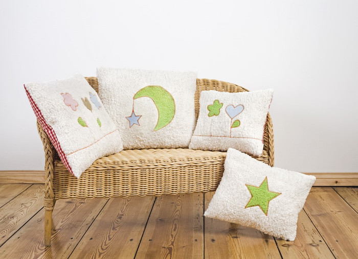 Organic cotton children's pillows, made in Germany.