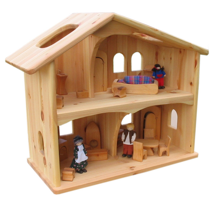 Solid wood dollhouse.  Made in Germany.