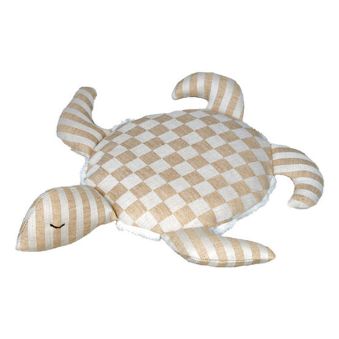 colorgrown cotton turtle pillow