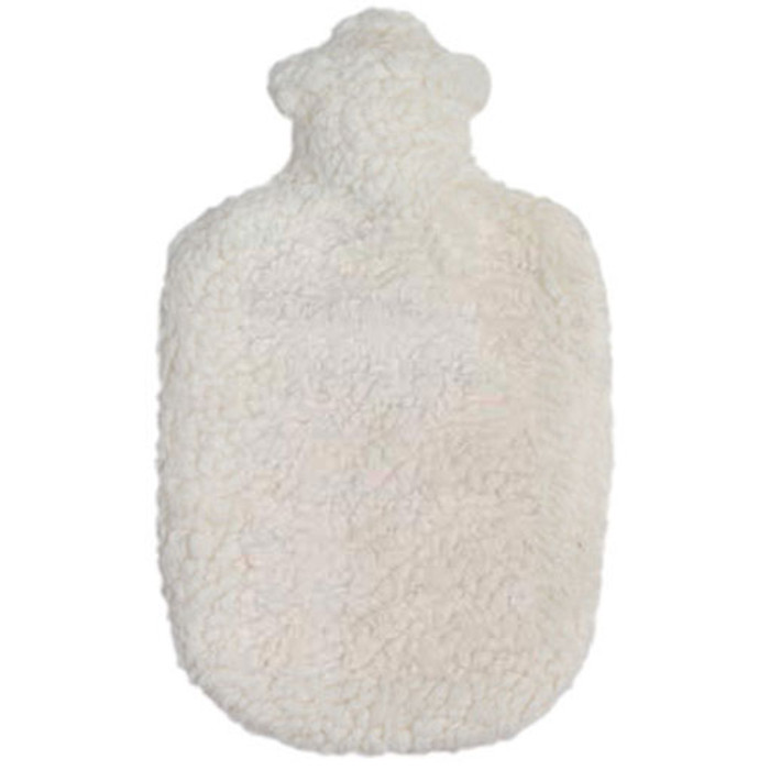 organic cotton and rubber hot water bottle