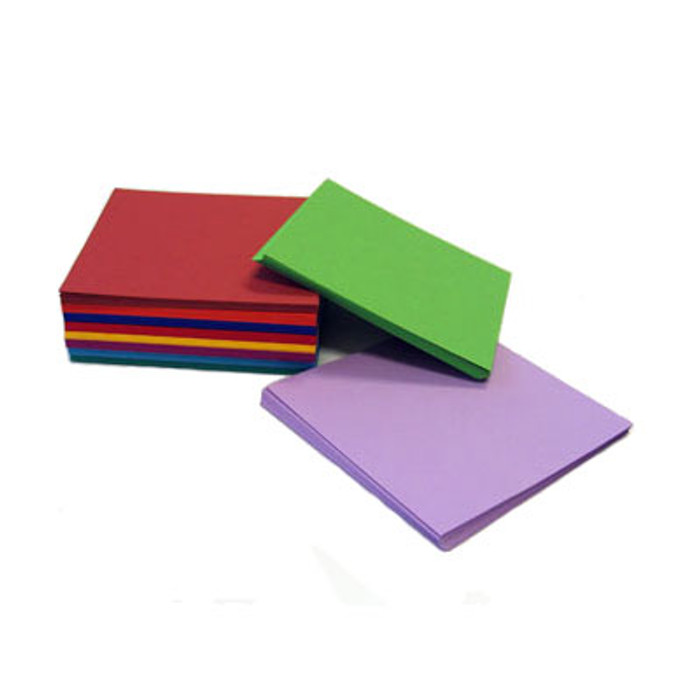 Square paper, 250 sheets assorted
