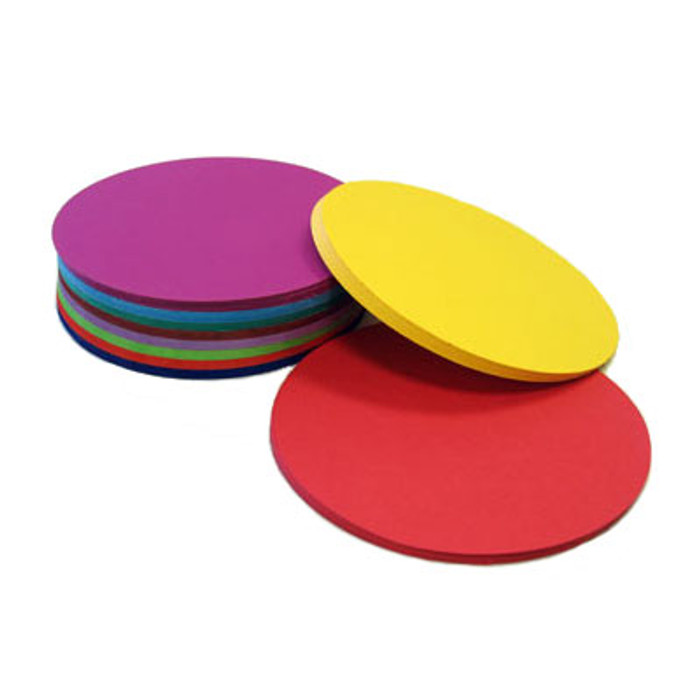Round paper, 250 sheets assorted