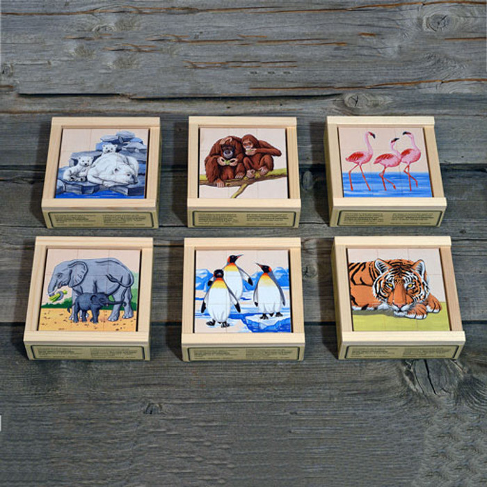 zoo animals 9 block cube puzzle