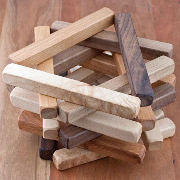 Tri-Colour Wood Building Sticks