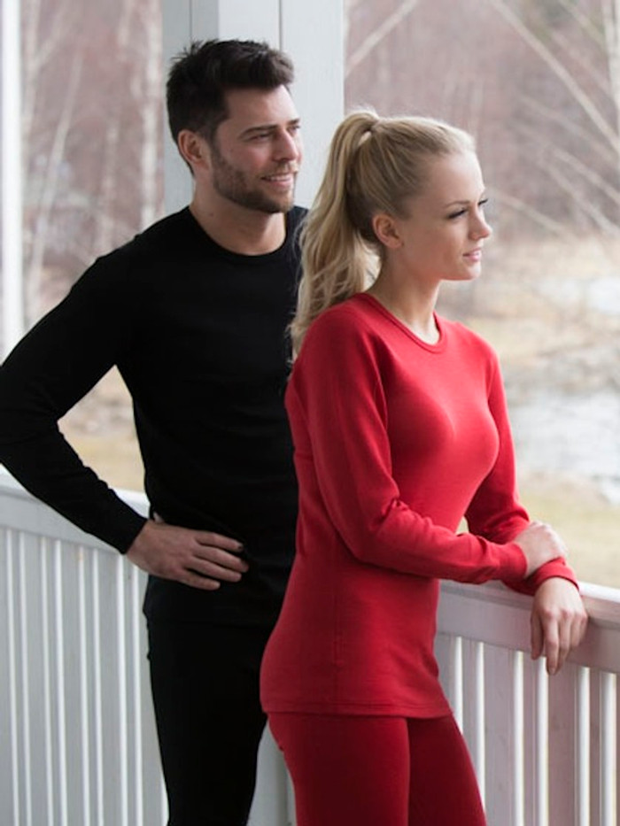 unisex organic wool long-sleeved top