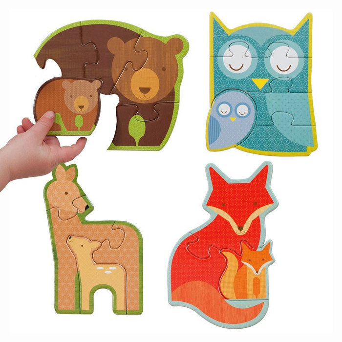 Forest Babies beginner puzzle with vegetable based inks