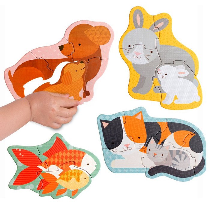 Pet Babies Beginner Puzzle with vegetable based inks
