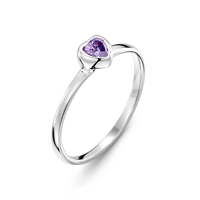 purple heart ring