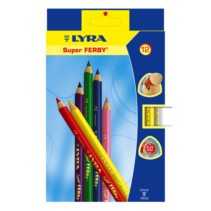 Lyra Super Ferby colouring pencils, lacquered