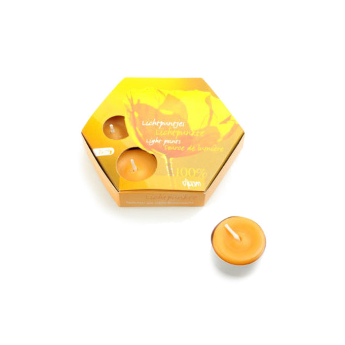 beeswax tealights with aluminium cup - 7 pcs