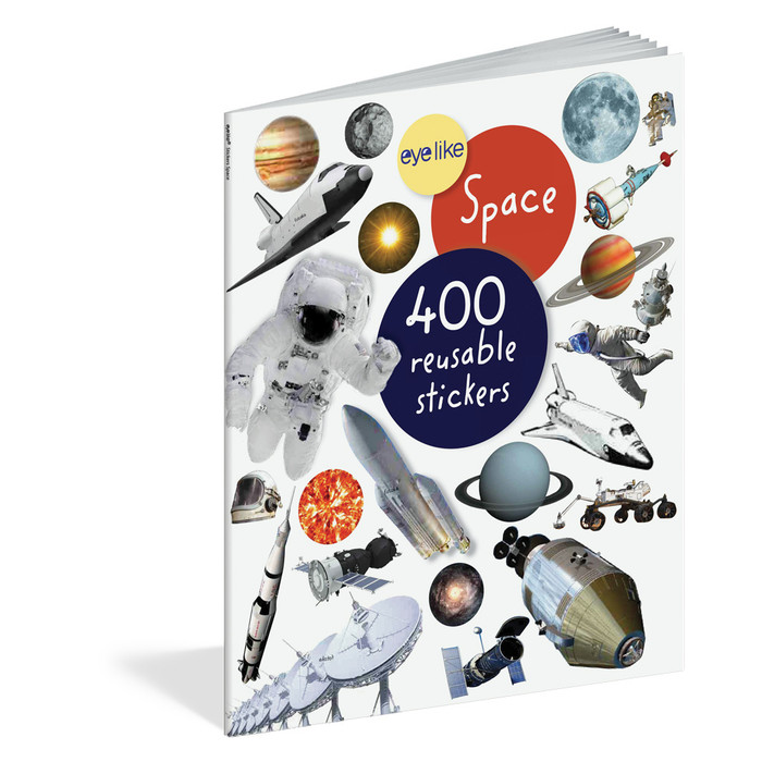 Space, 400 reusable stickers