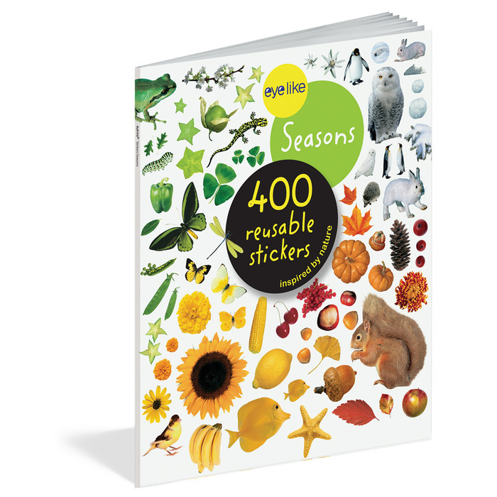 Seasons, 400 reusable stickers