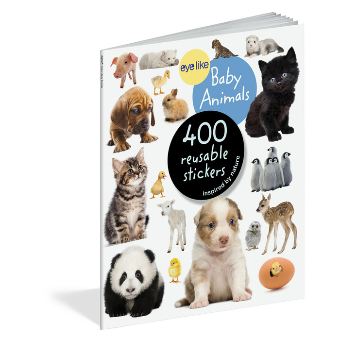 Baby Animals, 400 reusable stickers