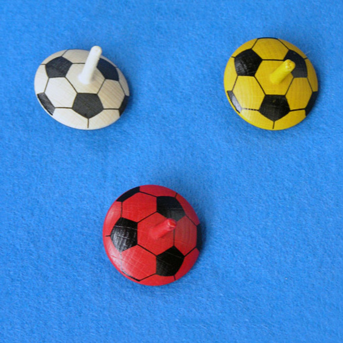 soccer ball spinning top