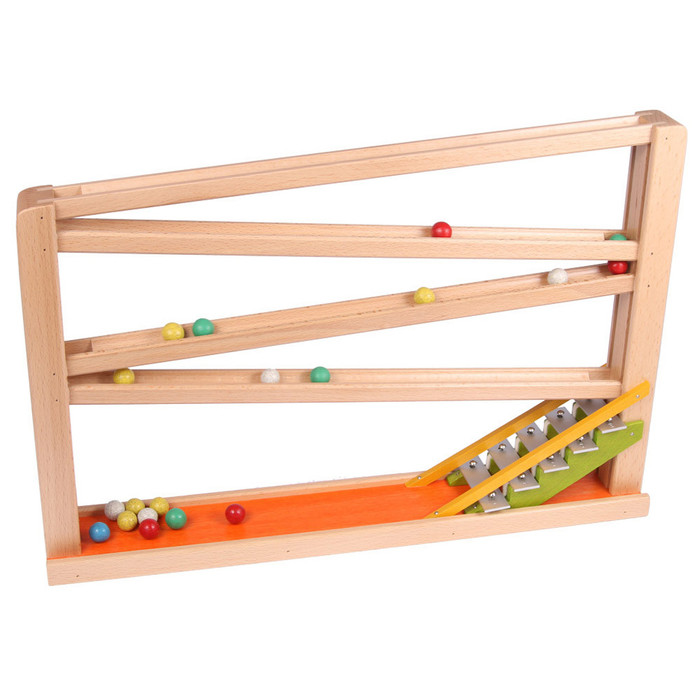marble run with chimes