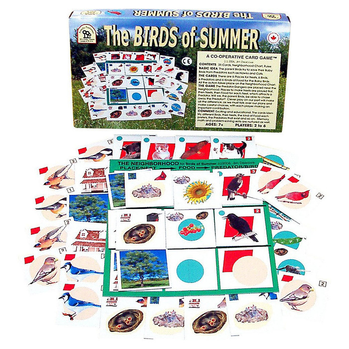 Birds of Summer cooperative board game from Family Pastimes.  Made in Canada.