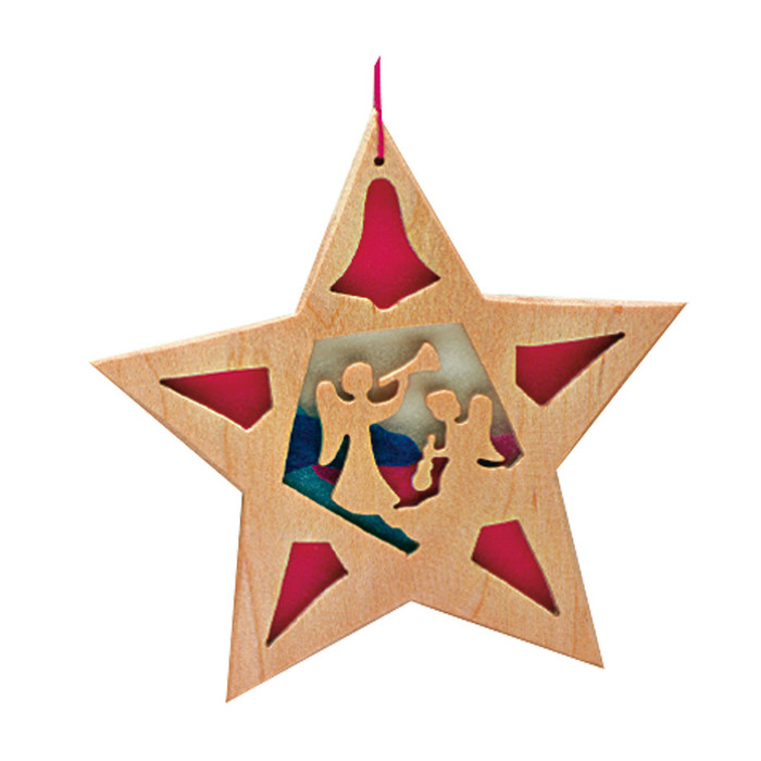 Ostheimer tree decoration star.  Angels with trumpets. #5530258.