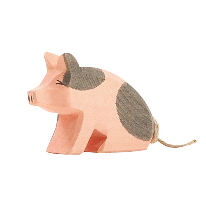 Ostheimer spotted piglet, sitting