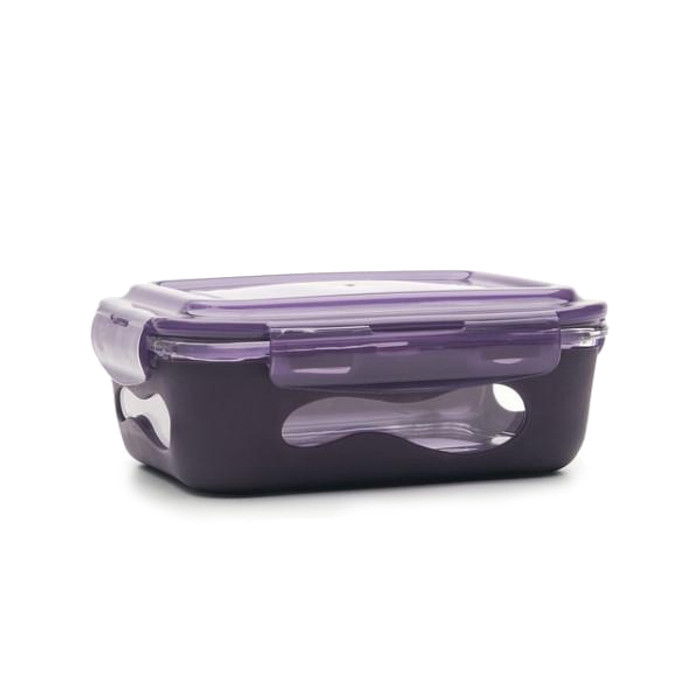 U Konserve 385 ml Glass Food Container with SIlicone Sleeve