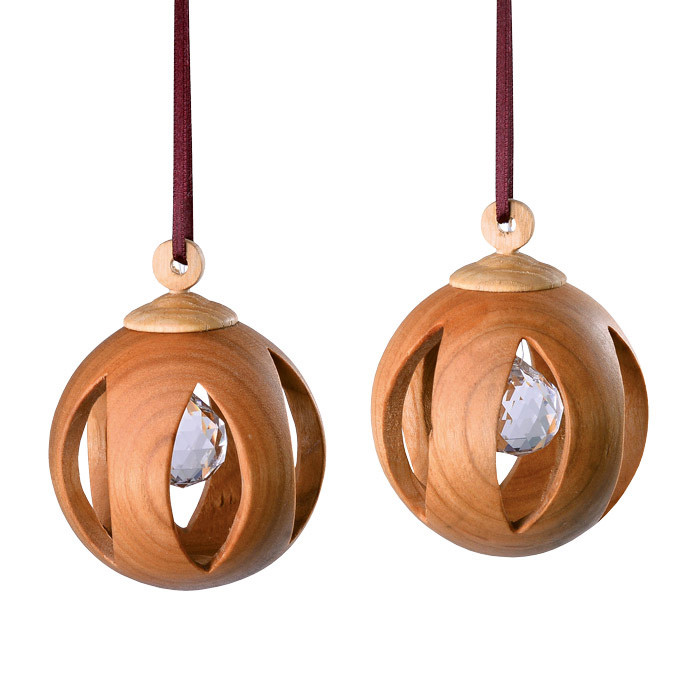 Wooden Christmas tree ornaments.  Made in Germany.