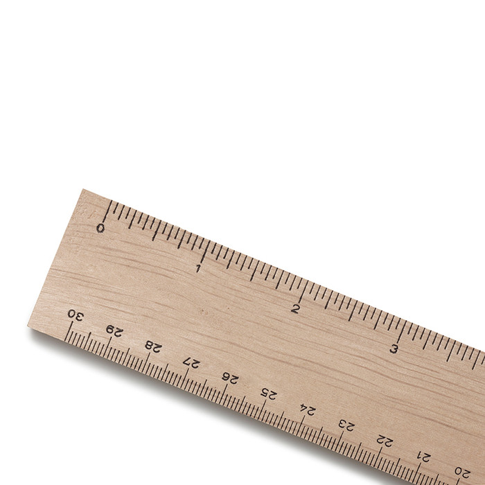 Mercurius wooden ruler.  32 cm long.