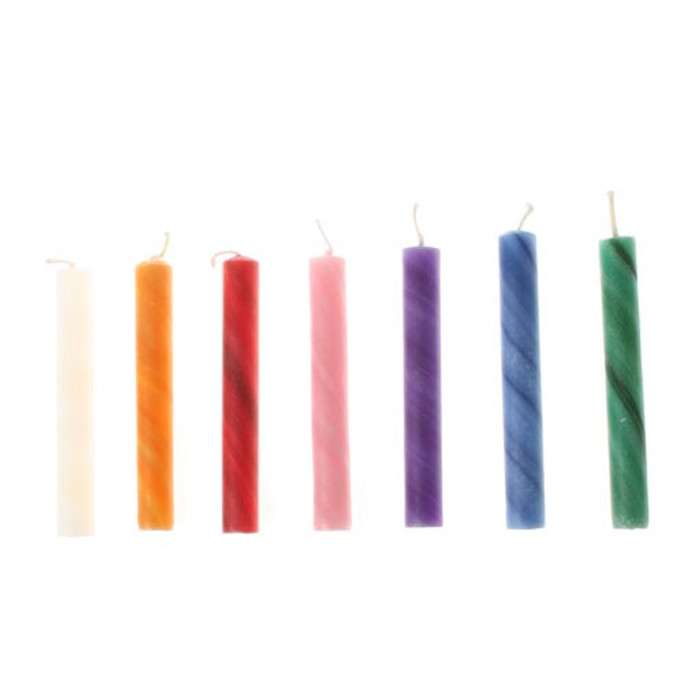 25% beeswax candles, coloured