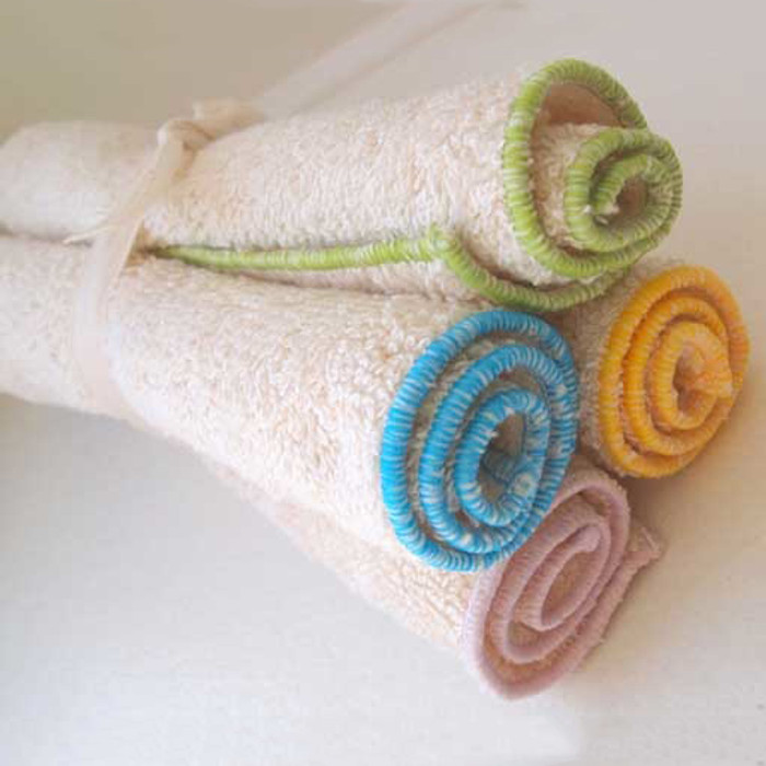 Organic cotton washcloths.  Made in Canada.  Set of 4.