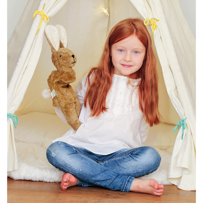 organic cotton rabbit puppet