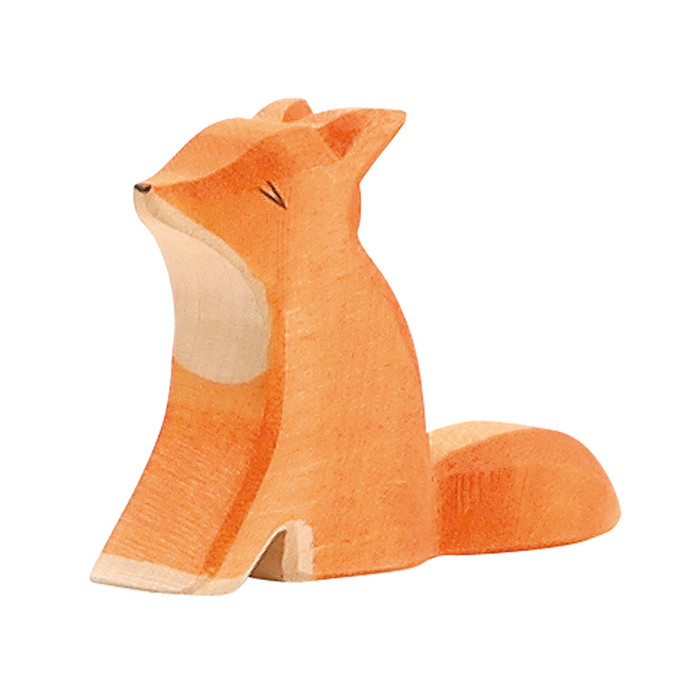 Ostheimer small fox sitting.  5.5 cm high.  Made in Germany.