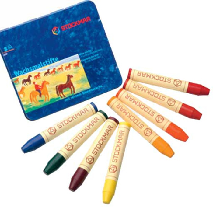 Stockmar stick crayons 8 assorted Waldorf mix