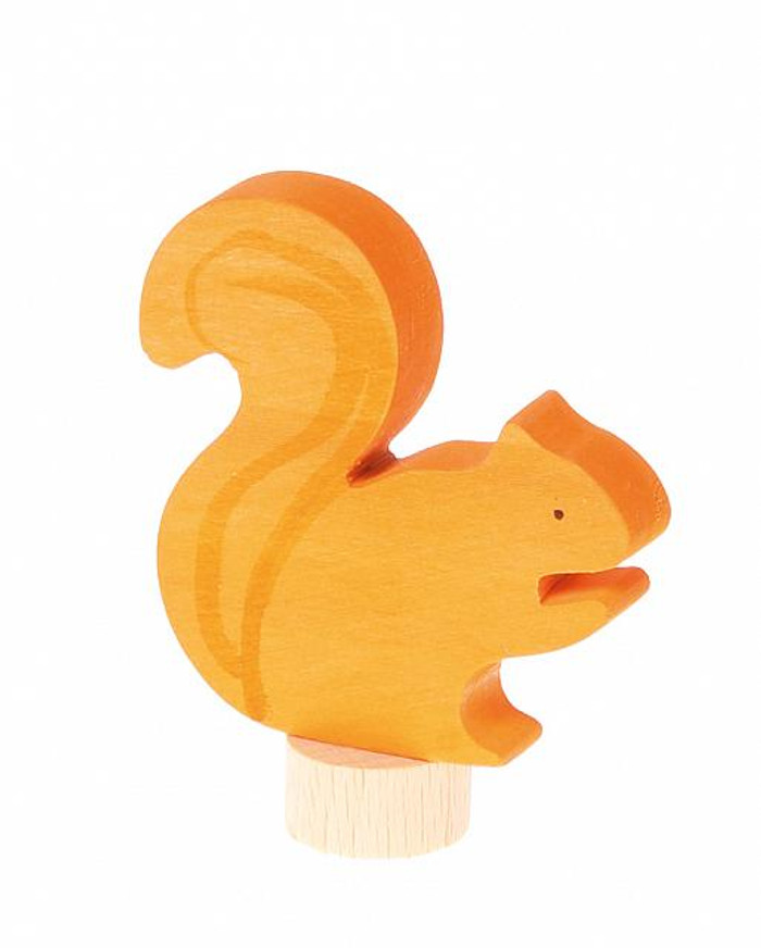 bushy tailed squirrel ornament for birthday ring