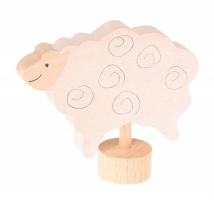 standing sheep ornament for birthday ring