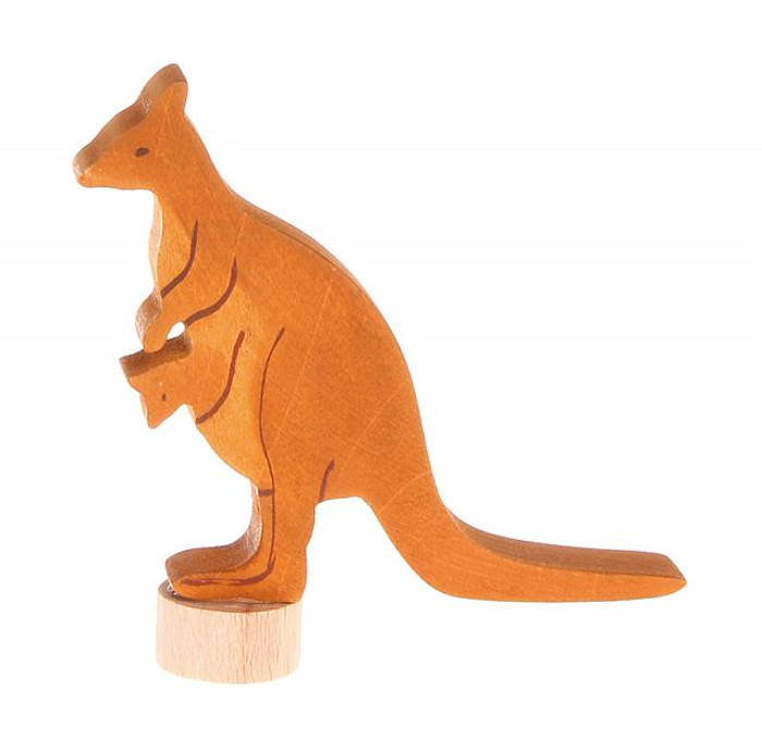 handcoloured kangaroo wtih joey ornament for birthday ring