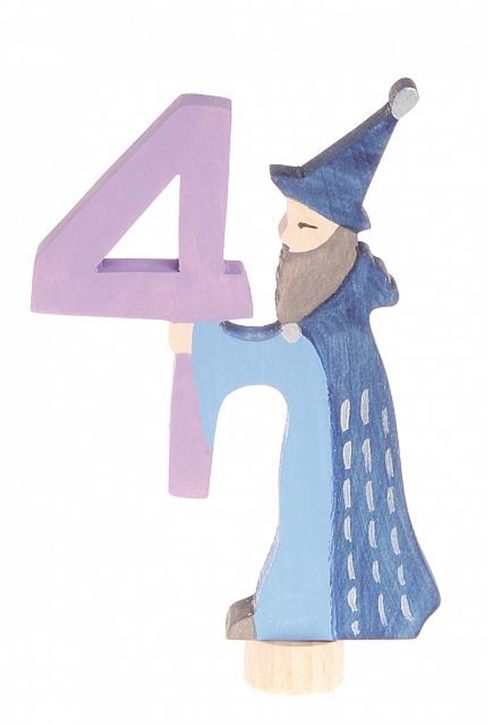 fairy figure number 4, wizard ornament for birthday ring