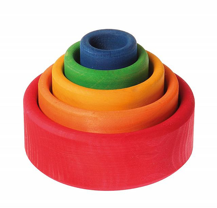 coloured stacking bowls